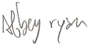 Abbey Ryan signature